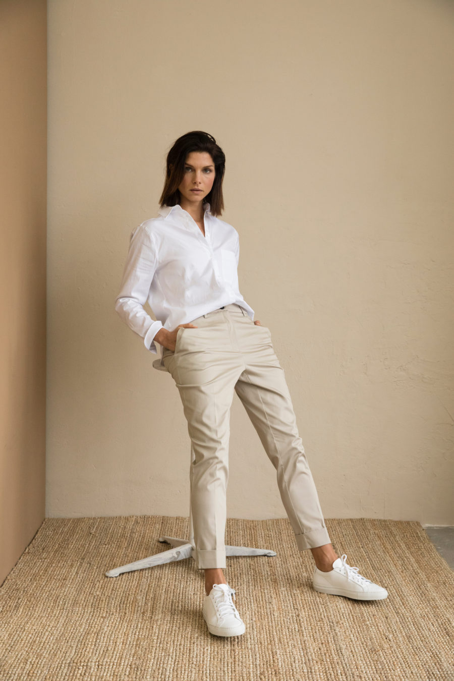 Beth Cotton Stretch Trousers