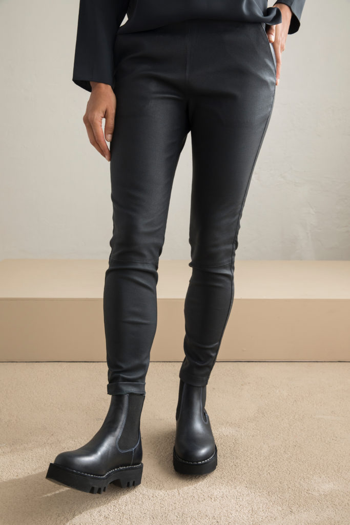 Agnes Stretch Leather Pants