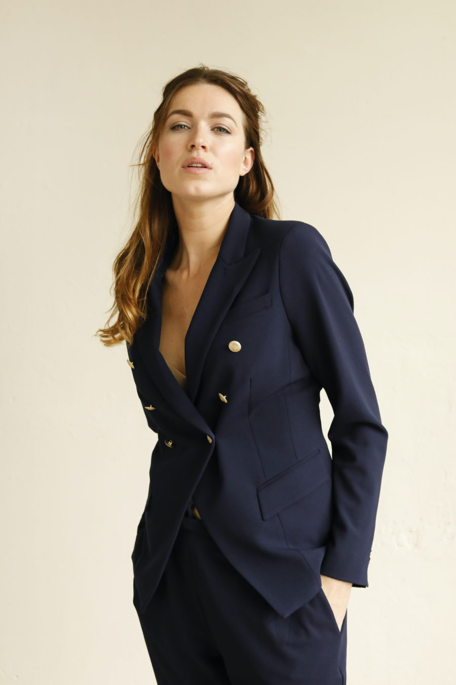 Inez Double Breasted Blazer